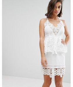MISSGUIDED | Кружевное Двухслойное Платье