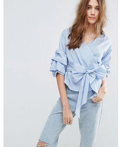 New Look | Клетчатая Блузка С Запахом
