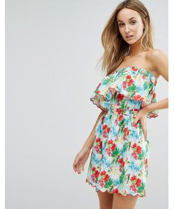 Floozie | Платье Без Бретелек С Принтом Ibiza