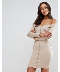 Asos | Облегающее Платье Мини С Вырезом В Форме Сердца И Планкой На