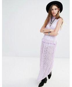 Rokoko | Кружевное Платье Макси Без Рукавов С Высокой Горловиной