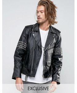 Reclaimed Vintage | Кожаная Куртка С Заклепками
