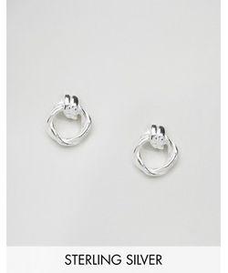 Asos | Серебряные Серьги С Узлом