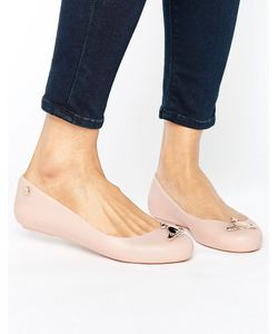 Vivienne Westwood for Melissa | Nude Matte Orb Space Love Flat Shoes