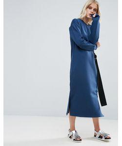 Asos | Трикотажное Платье Миди С Поясом И D-Образной Пряжкой