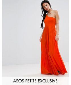 ASOS PETITE | Платье Макси На Одно Плечо Со Складками
