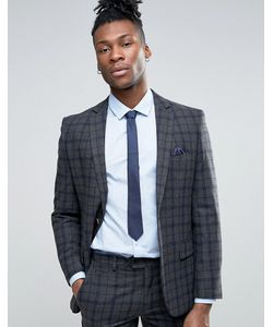 Harry Brown   Slim Fit Navy And Check Heritage Suit Jacket