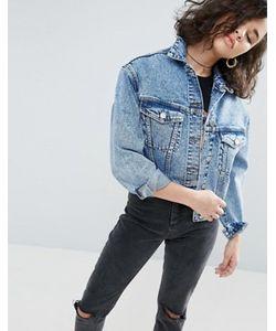 Asos | Синяя Джинсовая Куртка С Эффектом Кислотной Стирки