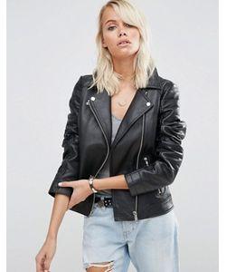 Asos | Кожаная Байкерская Куртка Ultimate