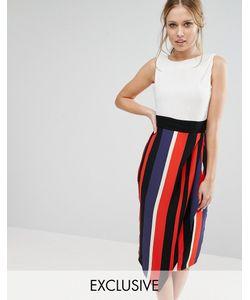 Closet London | Контрастное Платье Миди 2 В 1 Closet