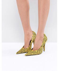 Jeffrey Campbell | Желтые Туфли-Лодочки С Отделкой Под Ягуара