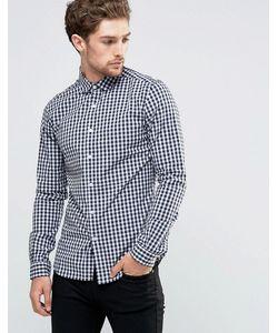Asos | Рубашка В Клетку Зауженного Кроя