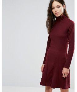 Brave Soul | Короткое Приталенное Платье С Отворачивающимся Воротом