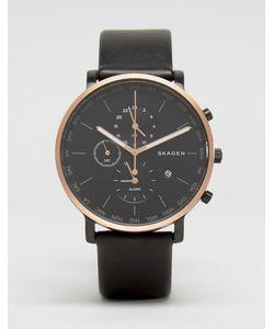 Skagen | Часы С Хронографом И Черным Кожаным Ремешком Hagenskw6300