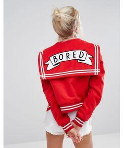 Lazy Oaf | Университетская Куртка С Надписью Bored