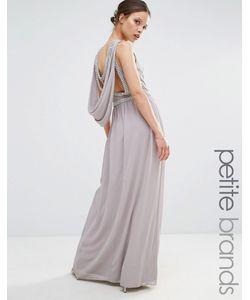 TFNC Petite | Платье Макси С Драпированной Декорированной Спинкой