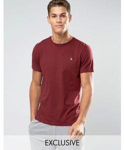 Jack Wills   Sandleford Regular Fit T-Shirt In Burgundy Красный