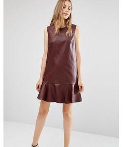 BCBGMAXAZRIA   Платье Без Рукавов Из Искусственной Кожи С Круглым Вырезом Bcbg Maxazria