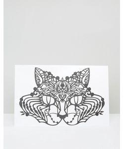 Facelace | Кружевная Маска Кошки Face Lace Halloween Черный