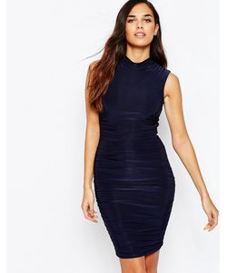 AX Paris | Облегающее Платье С Высокой Горловиной И Сборками