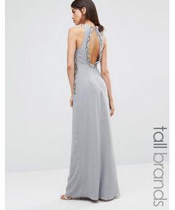 Maya Tall | Платье Макси С Отделкой И Вырезом На Спинке