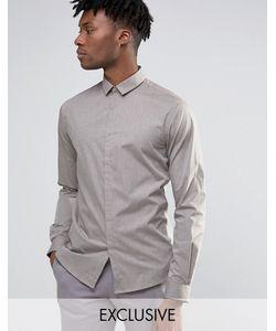 Noak | Меланжевая Облегающая Рубашка Stone