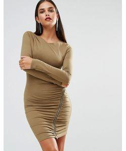 Jessica Wright | Платье С Длинными Рукавами И Молнией