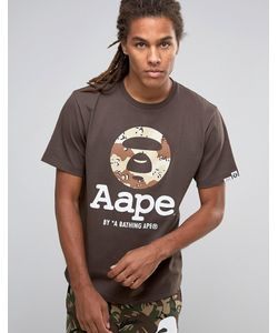 AAPE | Футболка С Камуфляжным Принтом На Крупном Логотипе By Bathing Ape
