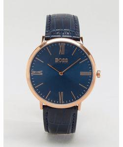 BOSS | Темно-Синие Часы С Кожаным Ремешком By Hugo Ultra Jackson