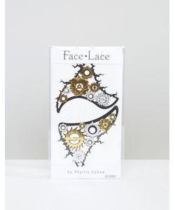 Facelace | Кружевные Наклейки Для Лица Face Lace Halloween Cyboriana Мульти