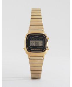 Casio | Электронные Часы С Черным Циферблатом И Золотистым Ремешком Mini La670wega-1ef