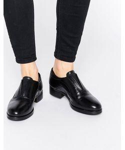 Ravel | Массивные Кожаные Туфли На Плоской Подошве Черный