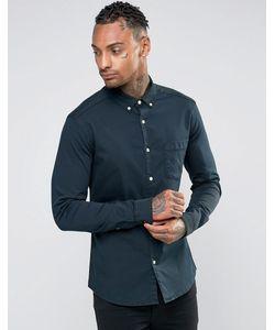 Asos | Черная Джинсовая Рубашка Суперузкого Кроя