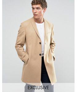 Noak | Строгое Приталенное Пальто Рыжий