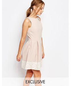 Closet London | Короткое Приталенное Платье С Кружевом Closet