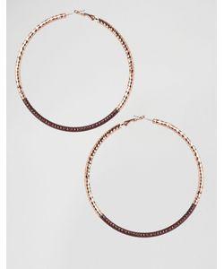 Cara Jewellery | Серьги-Кольца С Эмалированной Отделкой Cara Ny Золотой