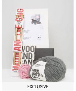 WOOL AND THE GANG | Набор Для Вязания Шапки-Бини Wool The Gang Серый