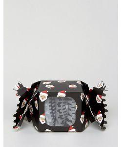 Asos | Набор Из 3 Пар Носков С Узором Фэйр-Айл В Подарочной Упаковке