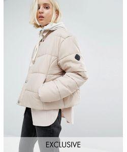 Puffa | Дутая Оversize-Куртка Без Воротника Бежевый