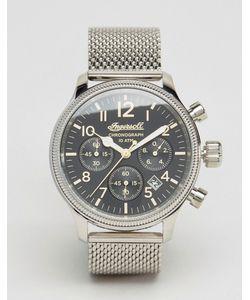 Ingersoll | Серебристые Часы С Хронографом И Сетчатым Браслетом Apsley Серебряный