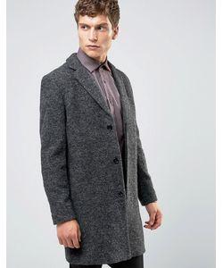 Selected Homme | Темно-Серое Пальто Из Ткани Букле Рыжий