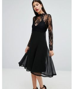 boohoo | 2 In 1 Slip Dress With Detachable Lace Top