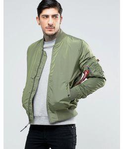 Alpha Industries | Зеленая Куртка-Пилот Кроя Слим Ma-1 Зеленый