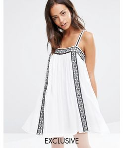 Akasa | Пляжное Платье С Вышивкой Белый