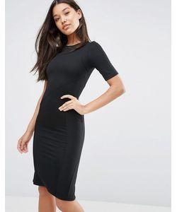 Asos | Структурированное Облегающее Платье В Рубчик Со Швами