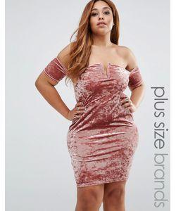 Missguided Plus | Платье Мини Из Мятого Бархата