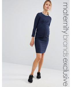 Bluebelle Maternity | Облегающее Платье В Рубчик Для Беременных