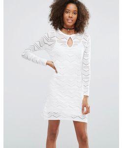 Glamorous | Кружевное Платье С Вырезом Капелькой Спереди