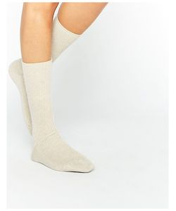 Johnstons | Кремовые Кашемировые Носки Кремовый