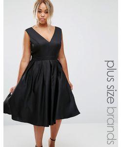 Chi Chi Plus | Платье Для Выпускного С Глубоким Вырезом Спереди Chi Chi London Plus